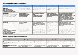 Information Evaluation Rubric