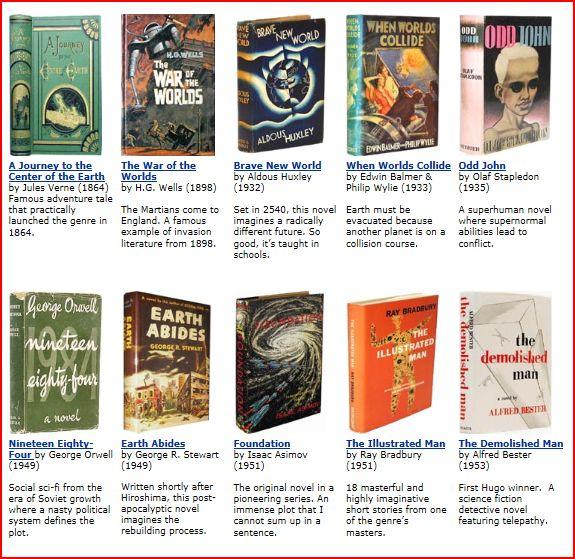 50 Best Science Fiction Novels Ever?
