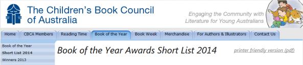 CBCA shortlist 2014