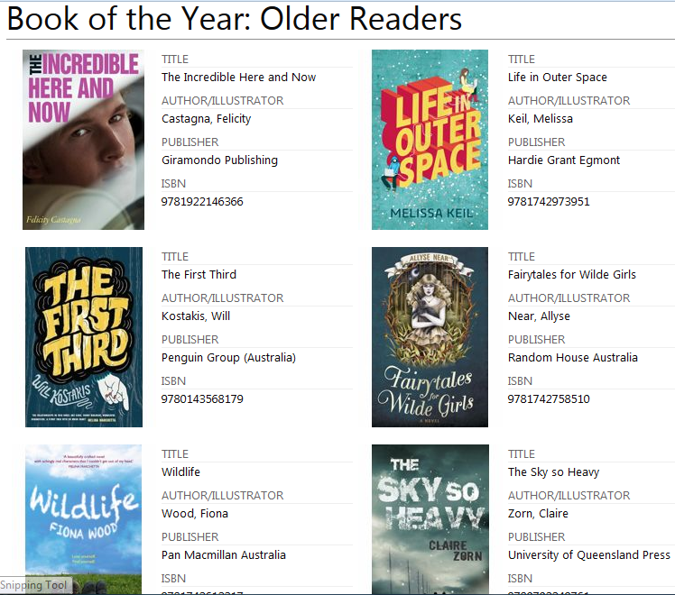 Children's Book of the Year Awards 2014 (2/2)