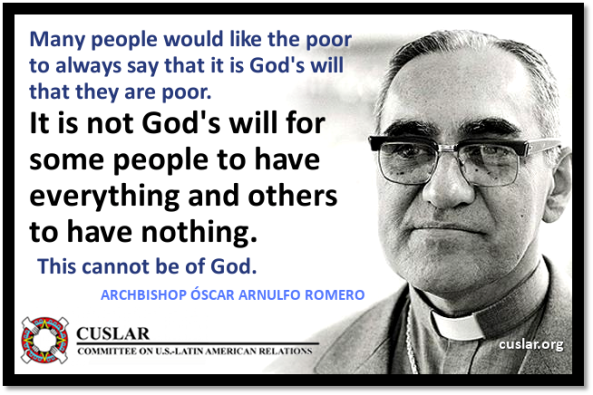 Oscar Romero quote and pic
