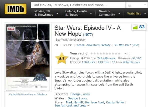 star wars imdb