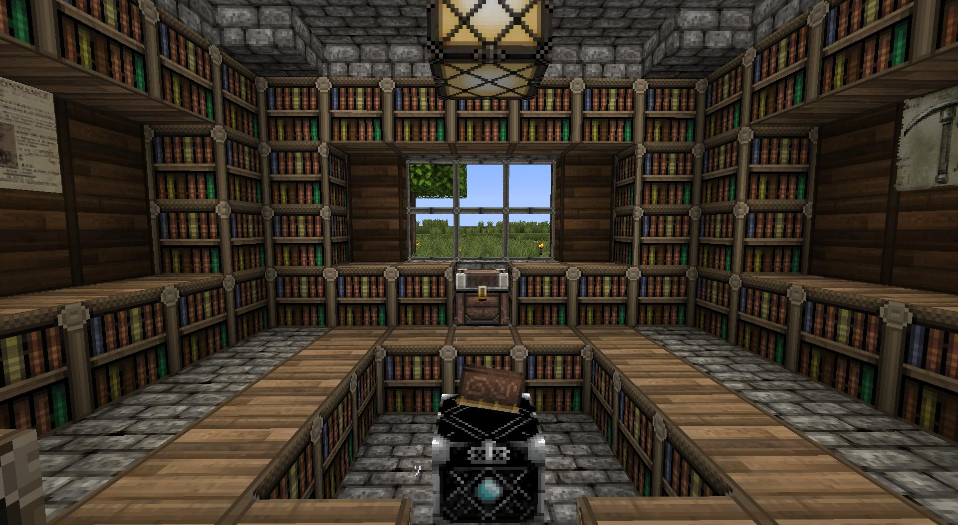Minecraft library ideas images for Minecraft exterior design ideas